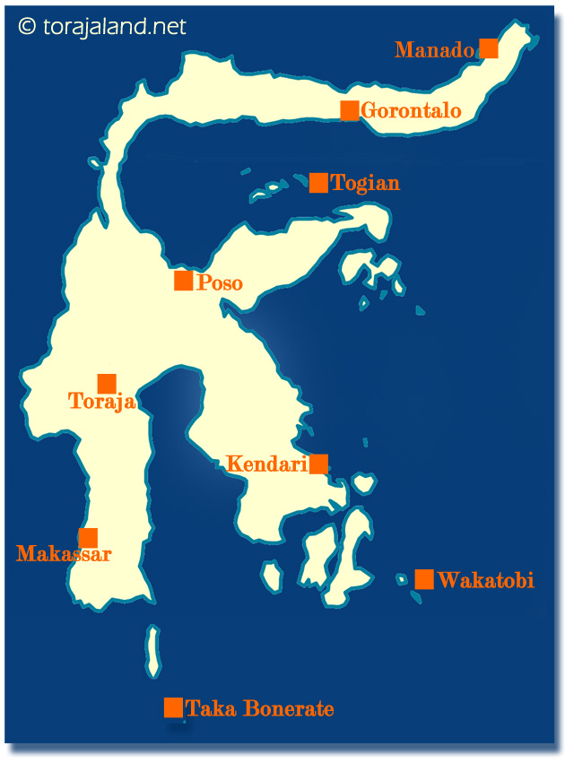 Sulawesi Travel Map